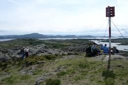 Pause på toppen - Foto: Haugesund Turistforening