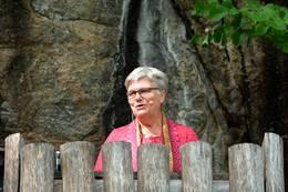 Kirsti Kolle Grøndahl taler om grunnloven. - Foto: Ragna Henden