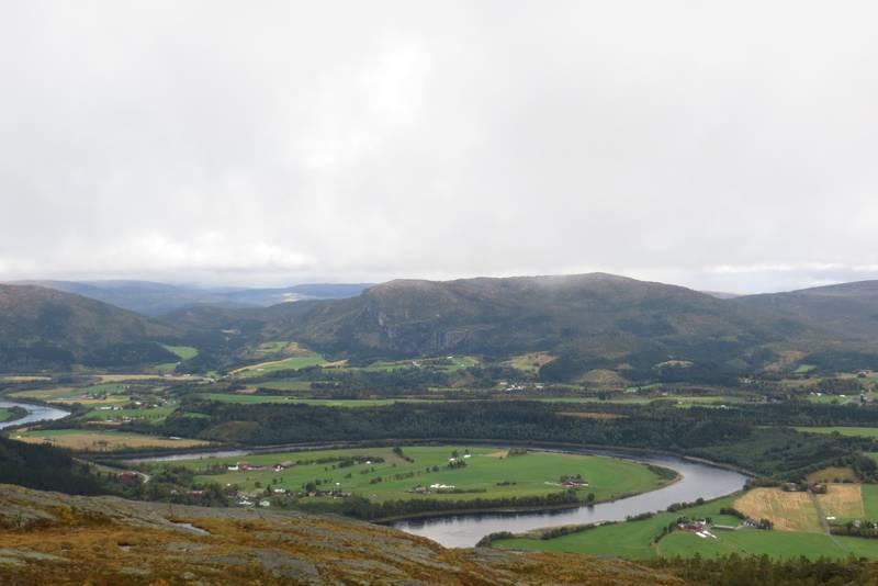 Utsikt fra Stakaklumpen