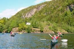 Padling ved Gaudland - Foto: Stavanger Turistforening