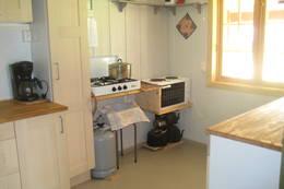 Kjøkken med propan og hybelkomfyr - Foto: Ukjent
