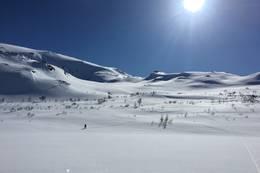 Utsikt fra hytten - Foto: Johnny Bjørge
