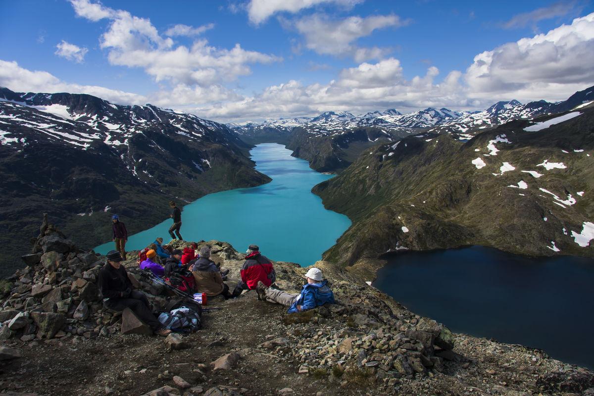 Utsikt fra toppen av Besseggen