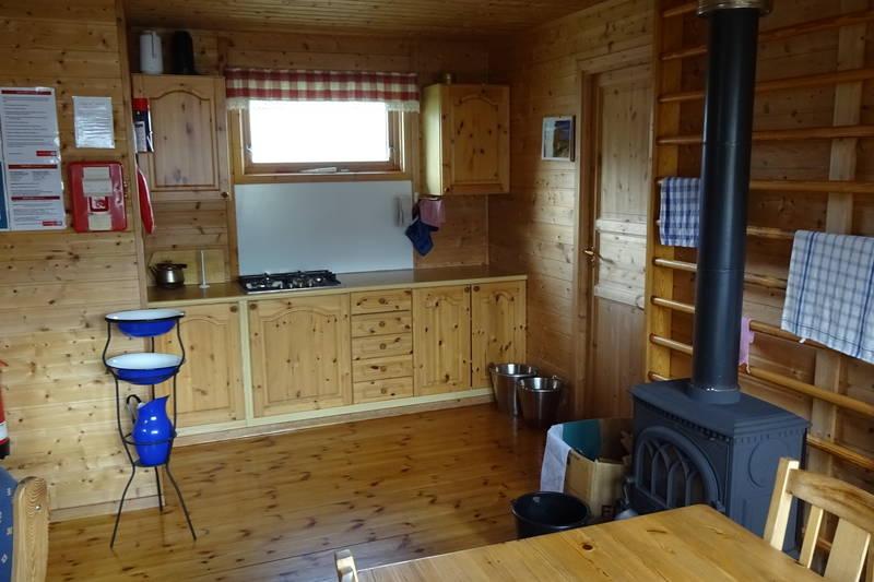 Blåvatn hovedhytte stue/kjøkken