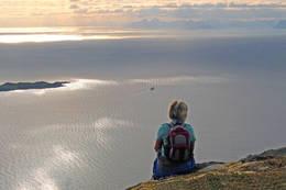 Utsikt vestover mot Lofoten fra vestre del av Salen - Foto: Kjell Fredriksen