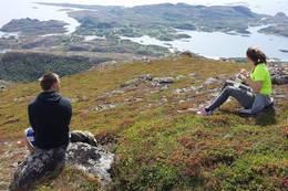 Utsikten ned mot Onøya - Foto: Monica S. Kristiansen