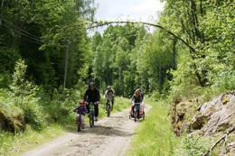 Vekterveien, enkelt sykkelterreng, flott for barnefamilier -  Foto: Ragnar Dæhli