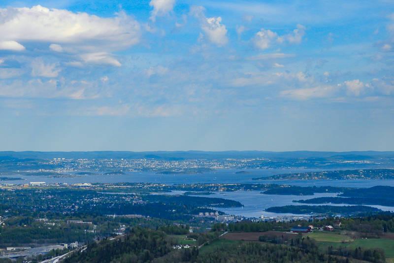 Utsikt over Oslofjorden fra Ramsås i Vestmarka.