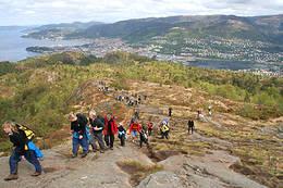 Utsikt fra Løvstakken ut over byen og fjorden - Foto: Endre Nerhus Øen