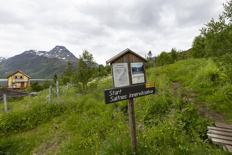 Turens startpunkt på Saltnes i Jøkelfjord