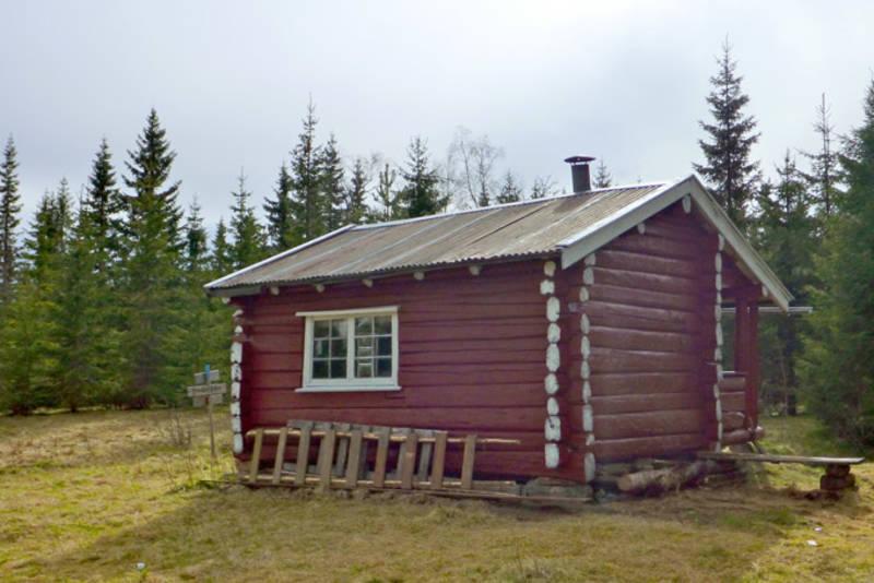 Utetjent hytte. Våler Finnskog. Finnskogen Turistforening