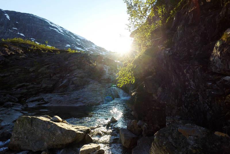 Breheimen byr på flotte naturopplevelser.