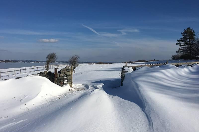 Snø i porten