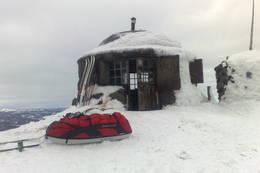 Styggemannshytta på Skrimfjell. Februar 2010  - Foto: Linda Bredkas Henriksen