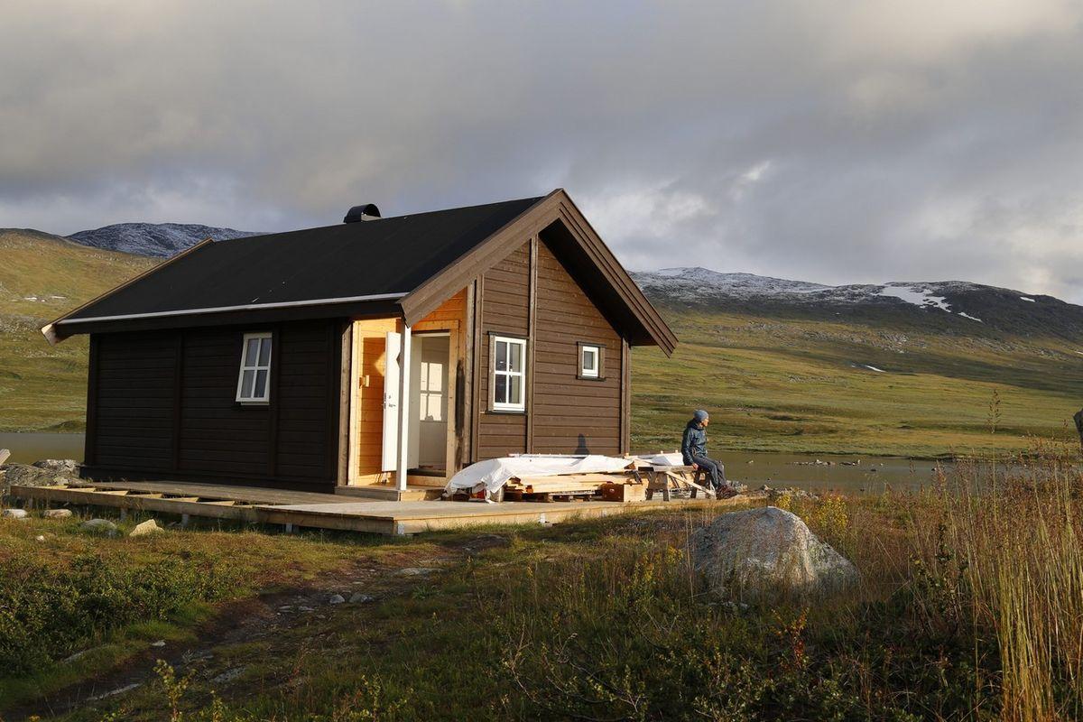 Ny hytte Cunojavri bygd 2016