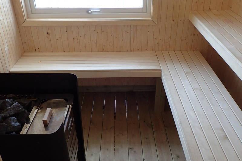 Vedfyrt badstue med god utsikt