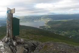 Toppen av Vardefjellet -  Foto: Arvid Johansen