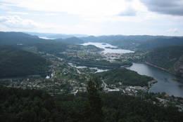 Utsikt fra Høgfjellet -  Foto: Ukjent