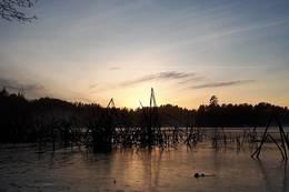 VATNEBUVANNET I SOLNEDGANG - Foto: Vatnebu gård