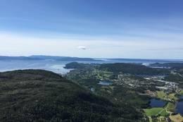 Utsikt mot Osøyro frå Linken -  Foto: Toril Ormberg Reite