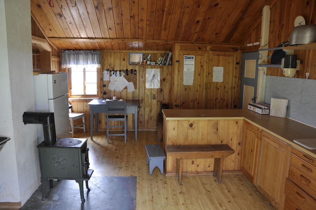 Kjøkkenet i hovedhuset