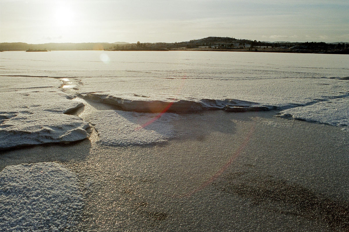 Vinter ved Blåskogvannet