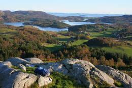 Fra Sildanipen mot Løyning, Håland, Falkeid -  Foto: Lars Kr Gjerde