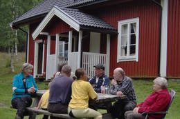 Ubetjent hytte. Varaldskogen. Finnskogen Turistforening. - Foto: Åsmund Skasdammen
