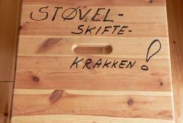Du har en egen støvelskiftekrakk på Dalabu - Foto: Per Arve Kristiansen