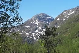 Fotasperrnuten sett frå vegen opp til Steinskvanndalen -  Foto: Geir Morten Utskot