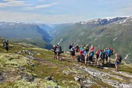 Utsikt over Utladalen fra nord - Foto: Till