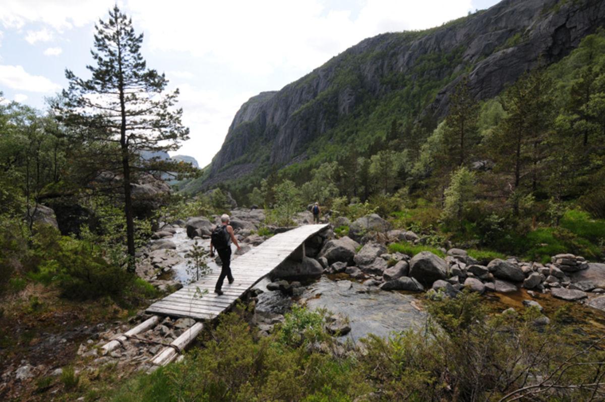 """Løypa følger """"Svenskevegen"""" som ble bygget i forbindelse med linjebygging"""