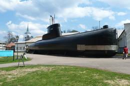 Kobbenklasse ubåt på Marinemuseet - Foto: Ukjent