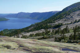 Utsyn fra Flostadvånne mot Nisser -  Foto: AAT