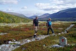 På tur gjennom Rondane -  Foto: Hilde L. Magnussen