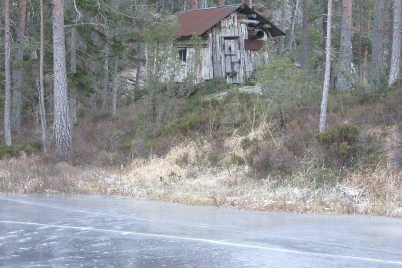 Den gamle hytta ved Skarpenæring.