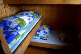 Soverom på Kvitfjellhytta  - Foto: NTT