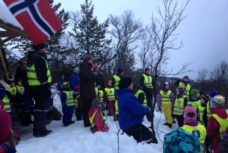 Barnas Turlag Tromsø og Tusseladden Friluftsbarnehage samarbeider om Tussehuken.