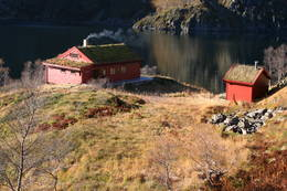 Storavassbu med Storavatnet i bakgrunnen. - Foto: Lars Kr. Gjerde