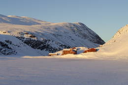 Vinter ved Rondvassbu i hjertet av Rondane - Foto: DNT Oslo og Omegn