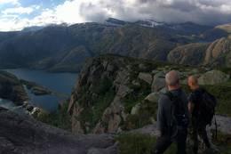 Utsikt mot Fessefossane -  Foto: Dag Eliassen