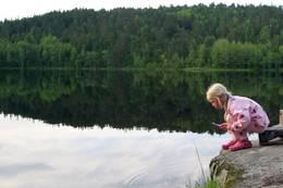 Ved Kobberhaughytta i Nordmarka - Foto: Eva Cecilie Simensen