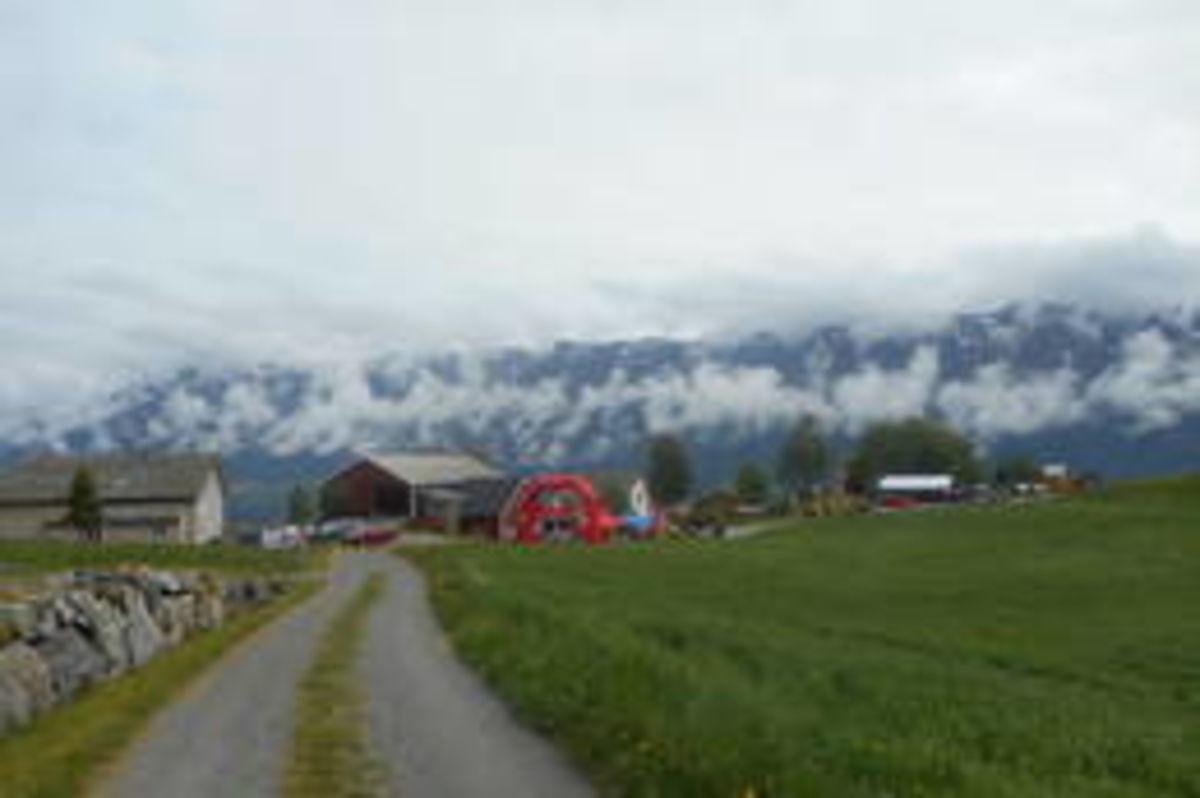 Målområdet på sjølve Skredløpsdagen ved Reiseter.