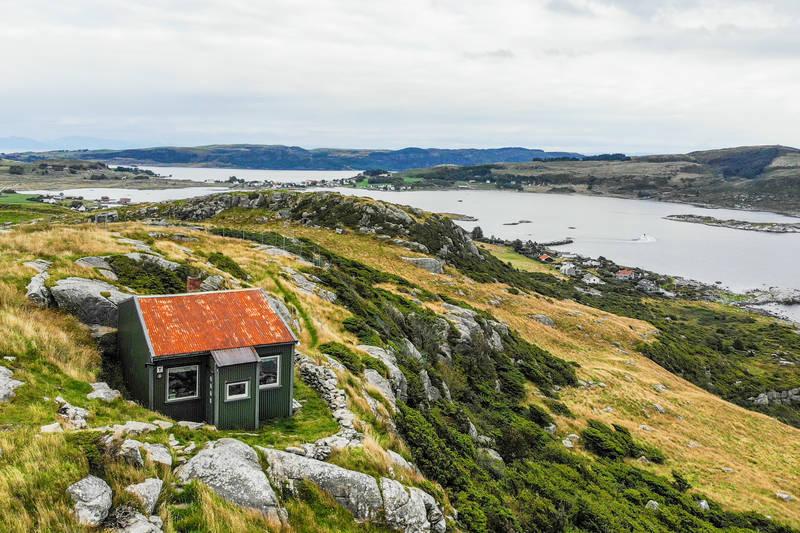 Spektakulær utsikt fra hytta