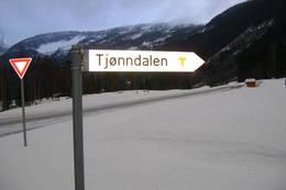 Skilt ved RV9 -  Foto: DNT Sør