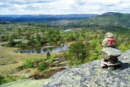 Flott utsikt fra Mjeltenatten -  Foto: AAT