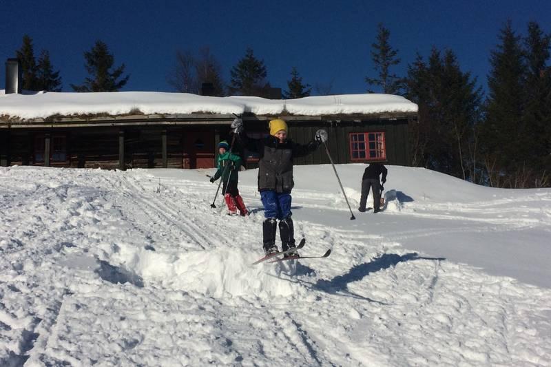 Skihopping ved Grytbakksetra