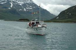 MB Bitihorn seiler på Bygdin om sommeren - Foto: DNT Oslo og Omegn