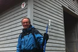 Ny hyttesjef Geir Rønning, på dugnad 13.10.12 - Foto: Margrete Ruud Skjeseth