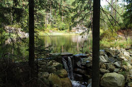 Dammen i Tretjenna -  Foto: Aust-Agder turistforening